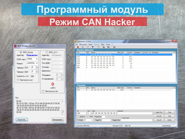 Режим CAN Hacker